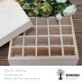 Cadre de mémoire en bois fait sur commande de sachet à thé de Hongdao avec des diviseurs Wholesale_D