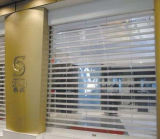 Claro recta Roll up cristal transparente de policarbonato de puerta/Puerta Roll up
