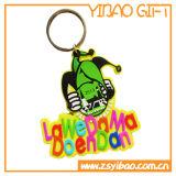 Animal em PVC maleável Cartoon Keyring com o logotipo personalizado (YB-PK-45)