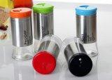 Neuer Farben-Kappen-Glasglas-Küchenbedarf-Glasflasche
