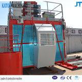 Alzamiento de elevación de la construcción del material de la jaula del doble de la carga de China Sc200/200 2t del precio bajo
