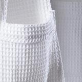 平均のサイズの在庫によってカスタマイズされるロゴの安い綿のワッフルのホテルのバスローブ(BA-001)
