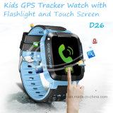 2017명의 토치 (D26)를 가진 새로운 최신 판매 아이 GPS 추적자 시계