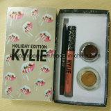 Heiß-Verkauf Lippenzwischenlage der Kylie Feiertags-Ausgaben-Lippenstift-der gesetzten Augenbraue-Gel+Lipstick
