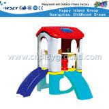 Corrediça plástica pequena das crianças de Playsets com equipamento do balanço (HC-16508)