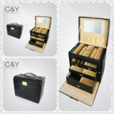 Eco-Friendly Faux Leather Jewelry Box de rangement