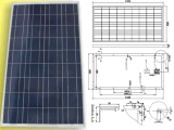 18V 120W 125W 130W Solar Poly Crystalline PV Module Panel con TUV Approved