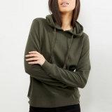 Пуловер Hoodies/свитер цвета равнины пригодности высокого качества оптовый удобный для женщин