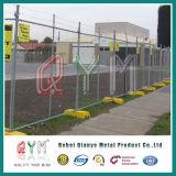 チェーン・リンクの一時塀または電流を通されたチェーン・リンクの塀または一時塀