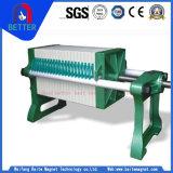Tipo filtro do Placa-e-Frame do fornecedor do ouro para a areia de quartzo/a lavagem/tratamento da água de carvão