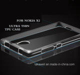 高品質Nokia X2の移動式アクセサリカバーケースのための透過柔らかいTPUの携帯電話の箱