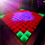 Party, Iluminación para DJ 3D Mirror Time Tunnel LED Dance Floor