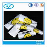 주문을 받아서 만들어지는 HDPE 쇼핑을%s 플라스틱 t-셔츠 부대 인쇄