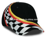 야구 모자 (YYCM-120373-1)를 경주하는 까만 자수 면