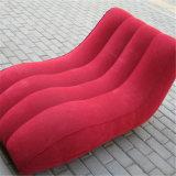 Cama flexible y un sofá confortable mobiliario inflables