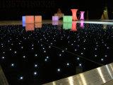Surface de plancher de danse de LED noir 60x120cm
