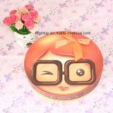 Caja redonda personalizada del chocolate con la imagen linda del cabrito