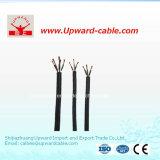 Câble électrique de gaine en caoutchouc de 5 faisceaux