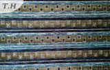 Sofá liso azul do Chenille da listra de Yemen (fth31887)
