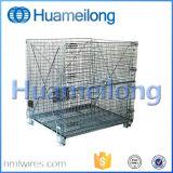 Depósito de metal dobrável gaiola de malha de arame de armazenamento