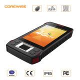 アンドロイド6.0の指紋との手持ち型のタッチ画面GPS PDA、RFIDのバーコードのスキャンナー