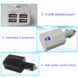 USB Car Charger di 6.2A Four per Digital Products Charging