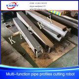 Cnc-Metallrechteckige Gefäß-Rohr-Flamme-Ausschnitt-Stahlmaschine