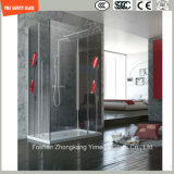Alto vidrio de la impresión de investigación de Temeprature de cuatro colores para la cabina de la ducha