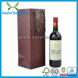 Dom de papel personalizado de luxo Saco de vinho com pega por grosso