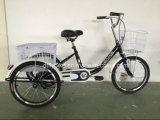 三輪車、3つの車輪のバイク、マンパワーの三輪車、バイク
