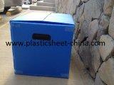 Caja de cartón acanalado sellada con la cinta mágica para los vinos y los alimentos del transporte