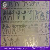Plaques de gravure en acier inoxydable en couleur pour la décoration de l'hôtel