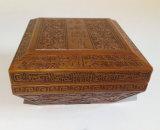 Rectángulo de moneda de madera de encargo caliente hecho a mano