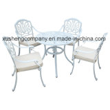 Set des moderne Art-im Freien Garten-Möbel-Gussaluminium-Table+Chair