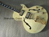 La vente en gros Jazz naturelles 137 Tiger Stripes de corps creux de la guitare électrique (TJ-253)