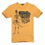 Comprimir a T-shirt promocional com logotipo impresso