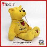 China Fabricante Ursinho Teddy Bear amarela com bordados Coração