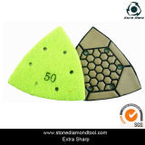 삼각형 Type 7 단계 Stone Dry Polishing Pad