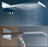 2つの機能滝および降雨量の真鍮のシャワー・ヘッド