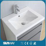 Glatter Farbanstrich MDF-Badezimmer-Schrank mit Spiegel Sw-1301
