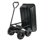 Gorilla Carts Gor200b Poly Garden Dump Cart com moldura de aço