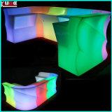 Modular Iluminado Curvado Recepción Mostrador Mesa Silla de exterior