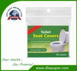 As tampas do assento de papel tecido improvisados