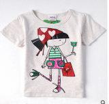 La nouvelle de l'été100% coton Fille du court-T-Shirt