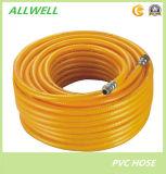 Tuyau à haute pression tressé 8.5mm de jet de fibre jaune de PVC