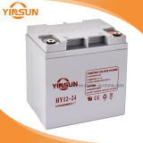 batteria solare ricaricabile 12V24ah per l'UPS solare ed il sistema di allarme