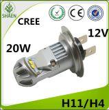 Высокая мощность H11 20Вт светодиод автомобилей противотуманного фонаря