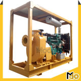 Bomba centrífuga auto-estimulante horizontal para águas residuais