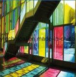 6mm 8mm de PVB de colores decorativos de Vidrio Laminado Vidrio balcón