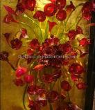 Het rode Geblazen Licht van de Kroonluchter van de Ambacht van het Glas voor de Decoratie van de Muur